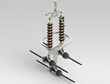 400 KV double Suspension String for Triple Conductor