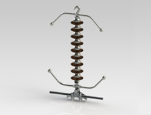 132 KV Single suspension AGS type
